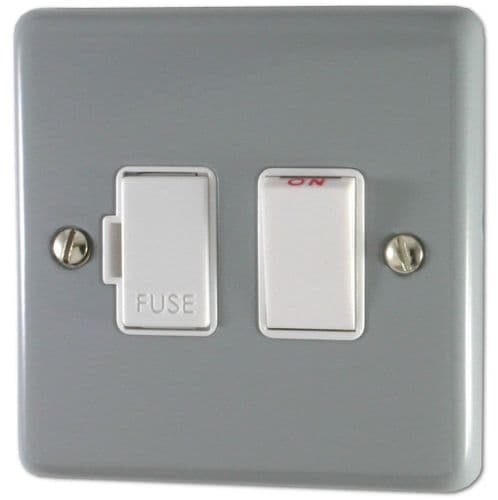 G&H CLG57W Standard Plate Light Grey 1 Gang Fused Spur 13A Switched